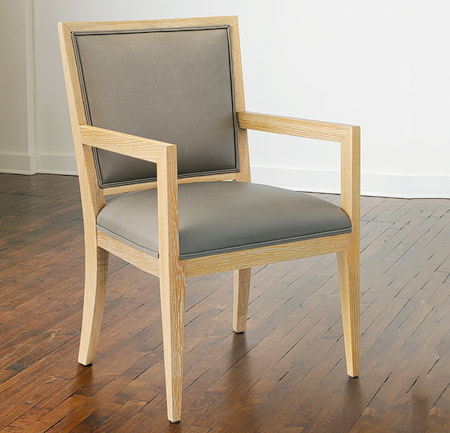 Wood dining chairs with arms lowe ivory leather dining for Wood dining chairs with arms