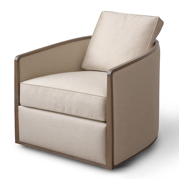 Baril Swivel Lounge Chair