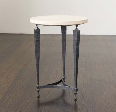 Coco Side Table With Limestone Top